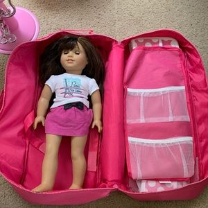 American Girl Doll Paris Themed with chair